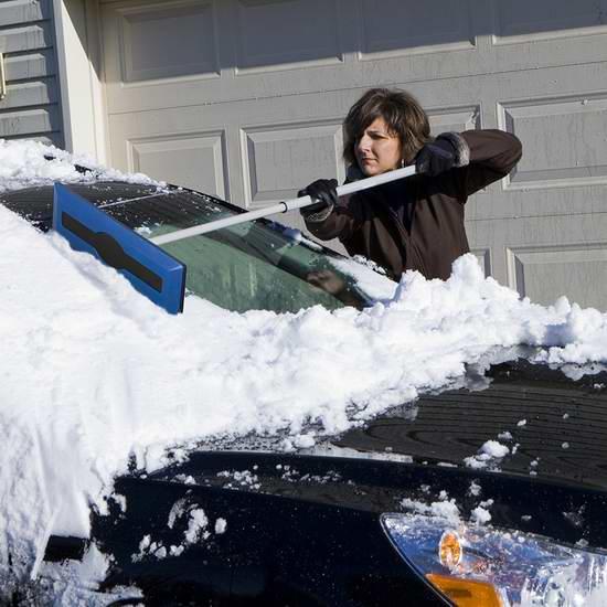 冬季开车必备!Snow Joe SJBLZD 伸缩式刮雪器/除冰铲 12.59加元包邮!会员专享!