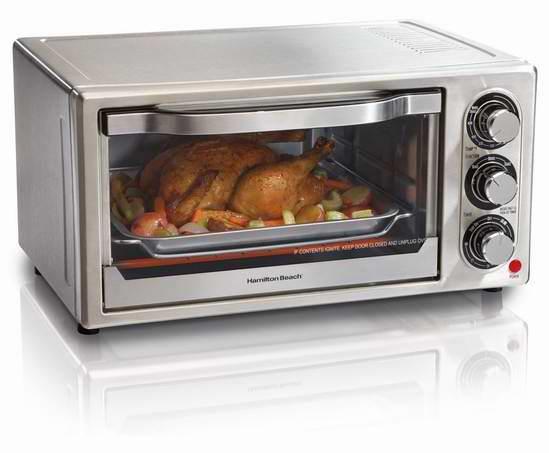 历史新低!Hamilton Beach 31511 6-Slice 不锈钢电烤箱6.1折 36.88元限时特卖并包邮!