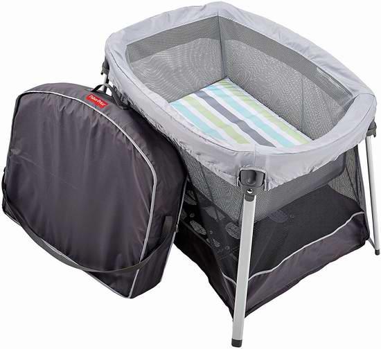历史新低!Fisher-Price 费雪 Ultra-Lite 二合一便携式游戏床/婴儿床6折 89.99元限时特卖并包邮!