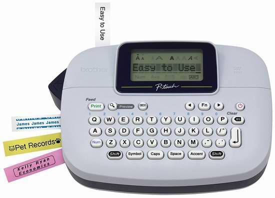 Brother PTM95 便携式标签打印机3.9折 14.99加元!