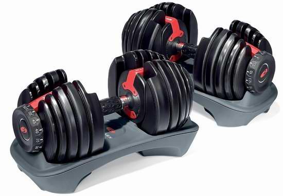 补货!Bowflex SelectTech 552 可调节式 健身哑铃两件套 499.99加元包邮!