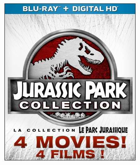 金盒头条:Jurassic Park《侏罗纪公园》1-4全集(蓝光3D+蓝光+数字高清)6.8折 29.99加元!