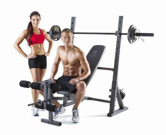 近史低价!Gold's Gym XR 10.1 多功能家用健身凳5.5折 109加元包邮!