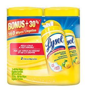 Lysol 来苏尔 80抽春天味消毒湿巾2套装 4.57元,原价 9.22元