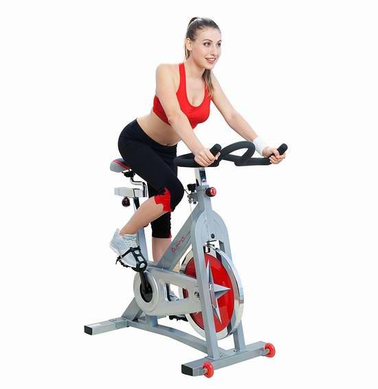 Sunny Health & Fitness Pro SF-B901 链条版家用动感健身自行车 372.97加元包邮!