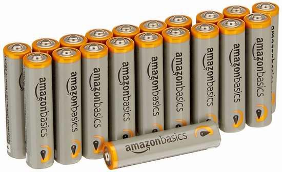 AmazonBasics AAA Performance Alkaline 碱性电池20只装 4.14-5.92元限时特卖!
