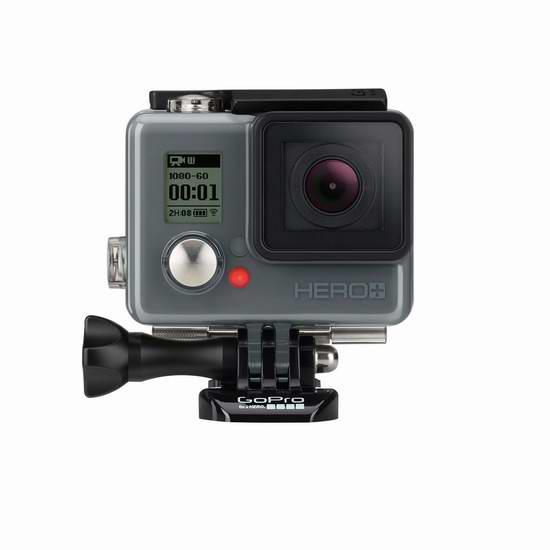 节礼周大促:历史新低!GoPro HERO+ LCD 入门级运动摄像机3.7折 149.99元限时特卖并包邮!