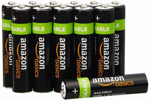 节礼周大促:精选18款 AmazonBasics Alkaline碱性电池及可充电镍氢电池5折起限时特卖!会员额外7折!