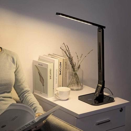 TaoTronics Elune TT-DL01 可调亮度LED护眼台灯 44.99加元包邮!带USB充电口!