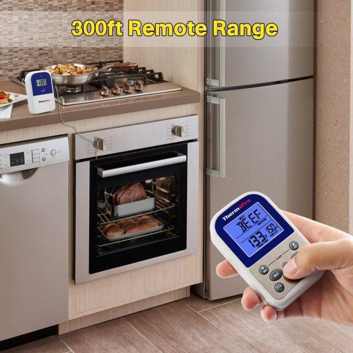 历史最低价!ThermoPro TP-11 300英尺无线远程双探头温度计\计时器 33.99加元,原价 99.99加元
