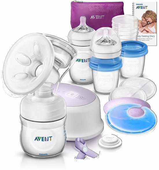 历史新低!Philips 飞利浦 Avent 新安怡 SCD292/02 Breastfeeding Support 舒适单边电动吸乳器/吸奶器+奶瓶+母乳储存杯套装6.3折 125元限时特卖并包邮!