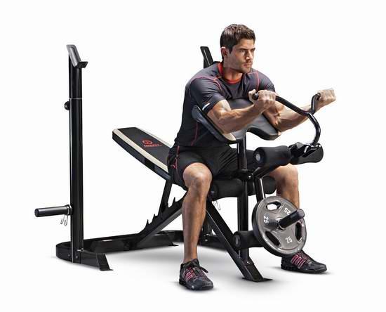 历史新低!Marcy Olympic MD879 多功能健身凳6.2折 214.99加元包邮!