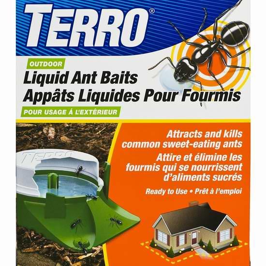 TERRO T1806CAN 强力户外灭蚁液体诱饵6件套3.9折 8.98加元!