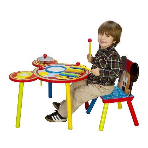 历史新低!Disney 迪士尼 TT89383MM 米奇音乐游戏桌椅套装 58.5元限时特卖并包邮!