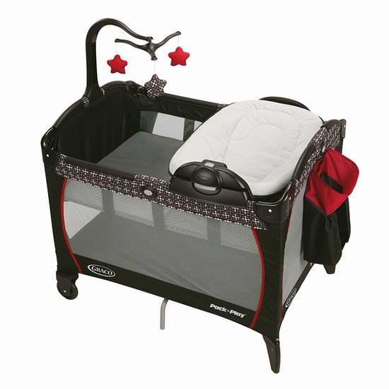 速抢!历史新低!Graco 葛莱 Pack n 婴儿游戏床+双向睡篮+尿布台3.5折 94.5加元包邮!