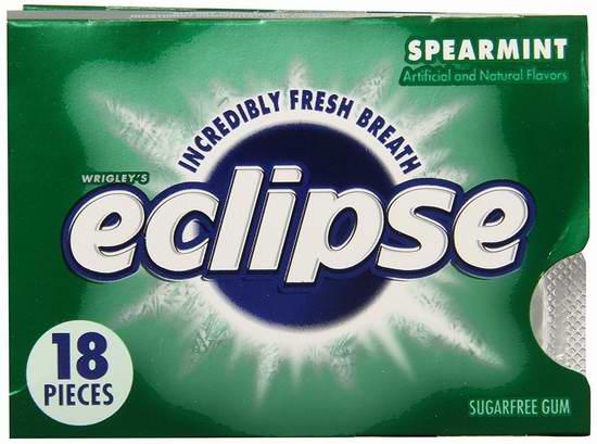 历史新低!Wrigley's Eclipse 薄荷味木糖醇无糖口香糖(18粒x12盒)超值装2.6折 7.37元限时特卖!