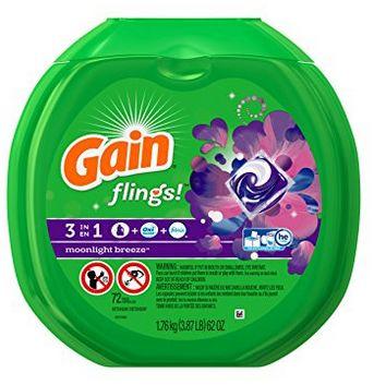 Gain Flings Moonlight Breeze 3合1强力去污除味洗衣球 14.99元,原价 18.88元