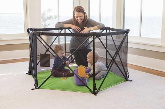 历史最低价!Summer Infant Pop 'N Play 便携式婴儿室内/室外玩乐围栏 69.99元限时特卖!