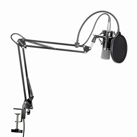 历史新低!Neewer NW-700 专业录音麦克风+桌面支架套装5.4折 39.26加元包邮!