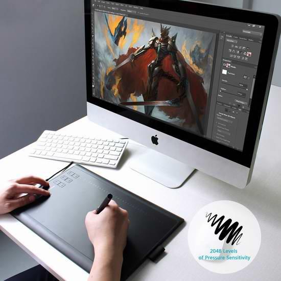 Huion 绘王 1060PLUS 数位板/电脑绘画板/手写板 67.99加元限量特卖并包邮!