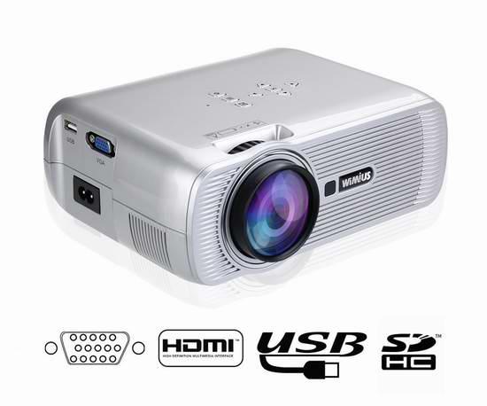 WiMiUS 1200流明 家庭影院投影仪 99.35加元限量特卖并包邮!