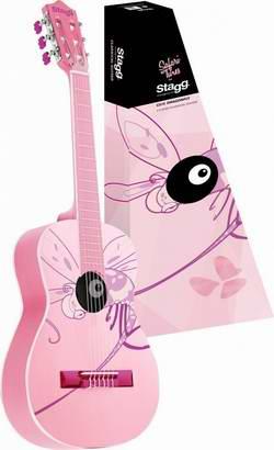 历史新低!Stagg C510 1/2 儿童蜻蜓彩绘古典吉他 110.19加元限时特卖并包邮!