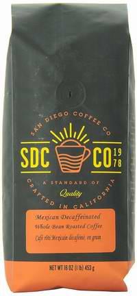 San Diego Coffee 墨西哥脱咖啡因烤咖啡豆2磅4折 12.34加元限量特卖!