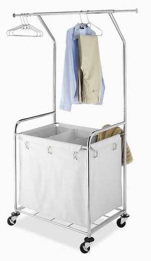 历史新低!Whitmor 6894-3910-BB 商用级豪华可移动式脏衣收纳架2.8折 45.18加元限时清仓并包邮!