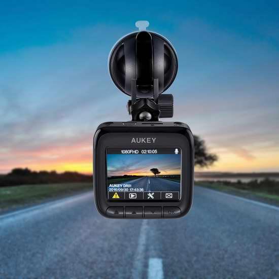 AUKEY 1080P高清170度超广角夜视行车记录仪 69.99加元限量特卖并包邮!