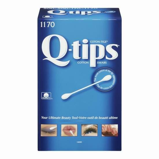 Q-Tips Cotton Swabs 棉签(500-1170支装) 2.78-6.53加元