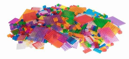 Strictly Briks 高级8色1000pcs半透明拼装积木套装 34.99加元限量特卖并包邮!
