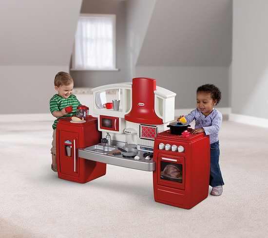 手慢无!历史最低价!Little Tikes 小泰克 Cook N Grow 二合一双模式成长型 儿童过家家厨房4.3折 69加元包邮!