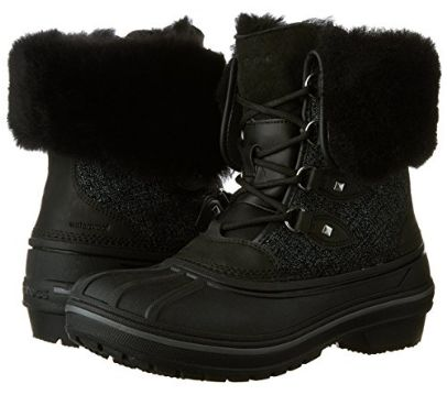 Crocs AllCast II 女式豪华羊毛真皮冬靴(4码)2.4折 39.12加元包邮!