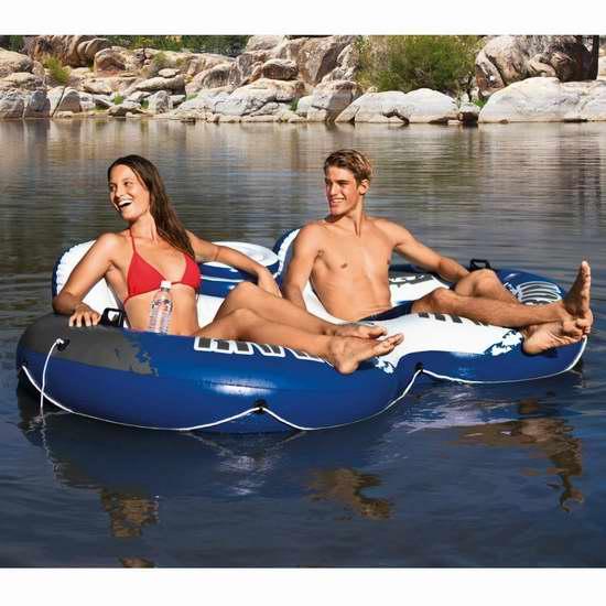 销量冠军!Intex Recreation River Run II 充气式双人水上沙发3.9折 44加元包邮!