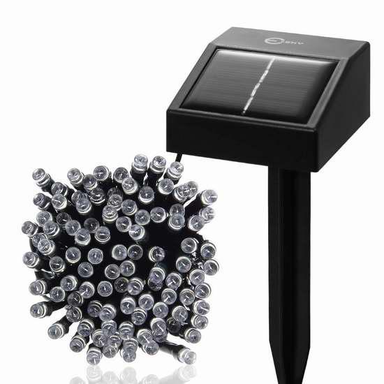Esky 17米 室内/室外 防水太阳能100 LED装饰灯 9.99加元限量特卖!