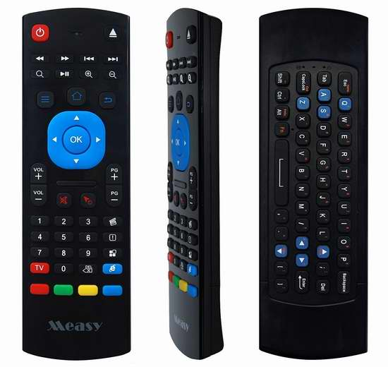 GHB 2.4G 4合1 空中飞鼠/鼠标键盘遥控器 16.99加元限量特卖!