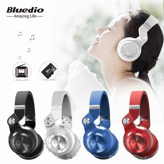 Bluedio T2 Plus 蓝弦2代 专业加强版旋转式头戴立体耳机 22.99-25.99加元限量特卖并包邮!