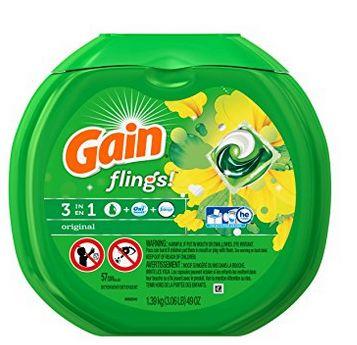 Gain Flings 3合1强力去污除味洗衣球 10.34加元(57粒),原价 16.99加元