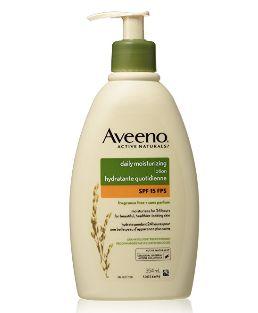 Aveeno 燕麦保湿乳液 7.97加元(SPF 15  ),原价 9.67加元