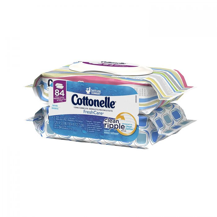 Cottonelle Fresh Care可冲马桶湿巾纸  3.3加元(84张),原价 10.98加元