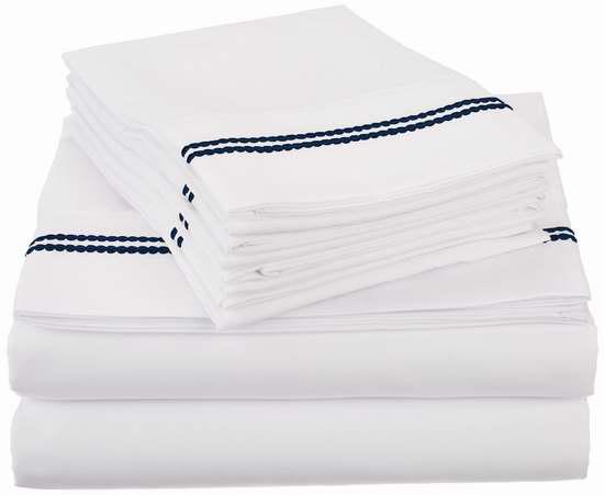 历史新低!LUXOR TREASURES 超软拉丝超细纤维 California King 床单4件套1.7折 15.74加元限时特卖!