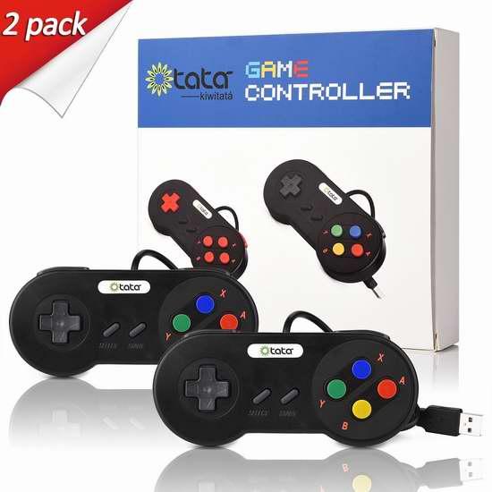 kiwitatá Super SNES 经典版USB游戏手柄2件套 16.14加元限量特卖!