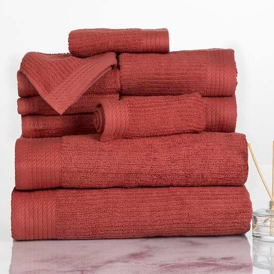 历史新低!Bedford Home 埃及棉 罗纹浴巾毛巾10件套4.5折 35.25加元限时特卖并包邮!