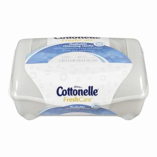 Cottonelle Freshcare 可冲马桶湿巾纸42张 4.99加元!