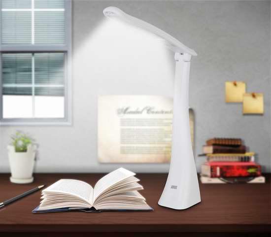 August LEC210 USB充电LED可调光护眼台灯 16加元限量特卖!