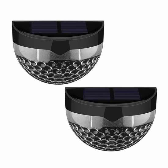 Patec 6 LED 户外防水太阳能照明灯 12.59加元限量特卖!