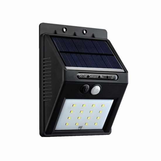Patec 16 LED 超亮太阳能运动感应灯 12.59加元限量特卖!