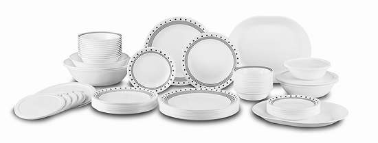 Corelle 康宁 Livingware 12人餐具组合74件套 179.96加元包邮!5色可选!