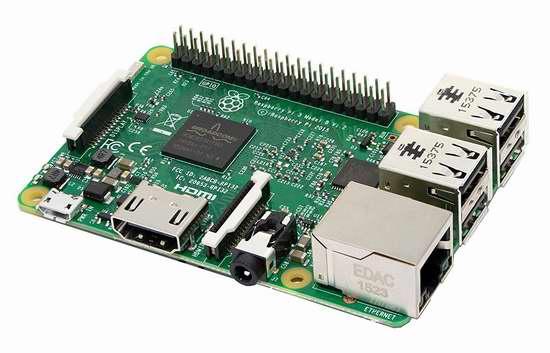 Raspberry Pi 树莓派3 Model B 主机板 45.55加元限时特卖并包邮!