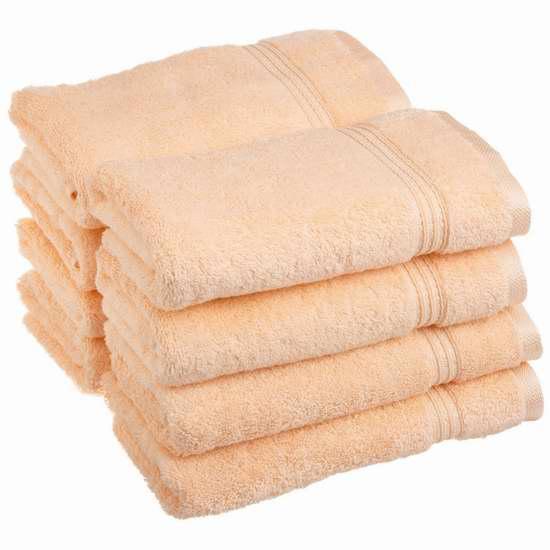 历史新低!Superior Collection 100%优质纯棉毛巾/洗脸帕8件套2.6折 19.6加元限时特卖!